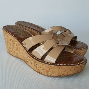0d7a5d84240f Sam Edelman Raymere Beige Wedge Sandals Size 7M